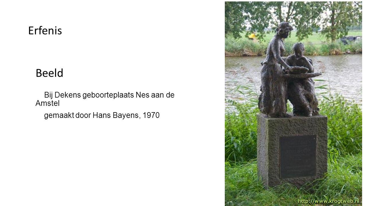 Erfenis Beeld Bij Dekens geboorteplaats Nes aan de Amstel
