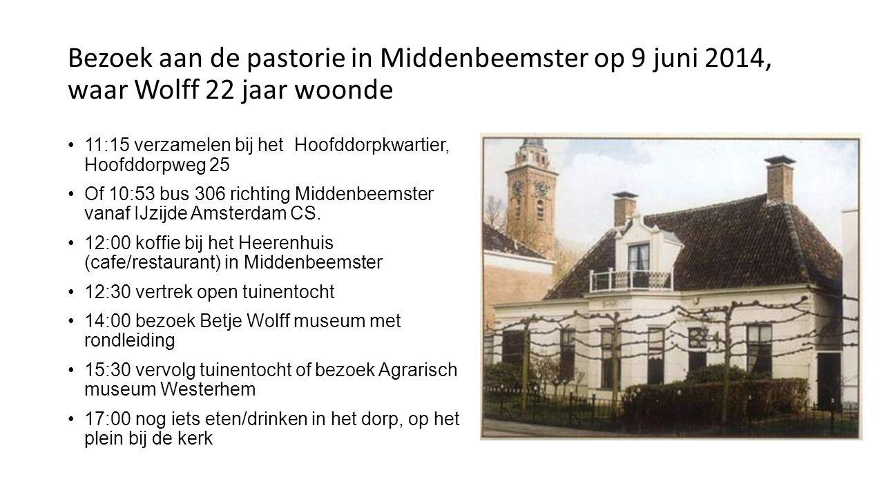 Bezoek aan de pastorie in Middenbeemster op 9 juni 2014, waar Wolff 22 jaar woonde