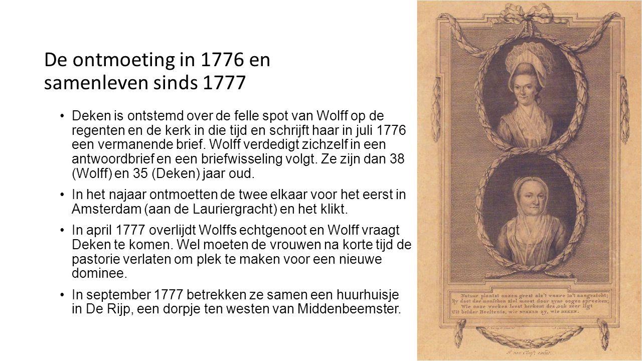 De ontmoeting in 1776 en samenleven sinds 1777