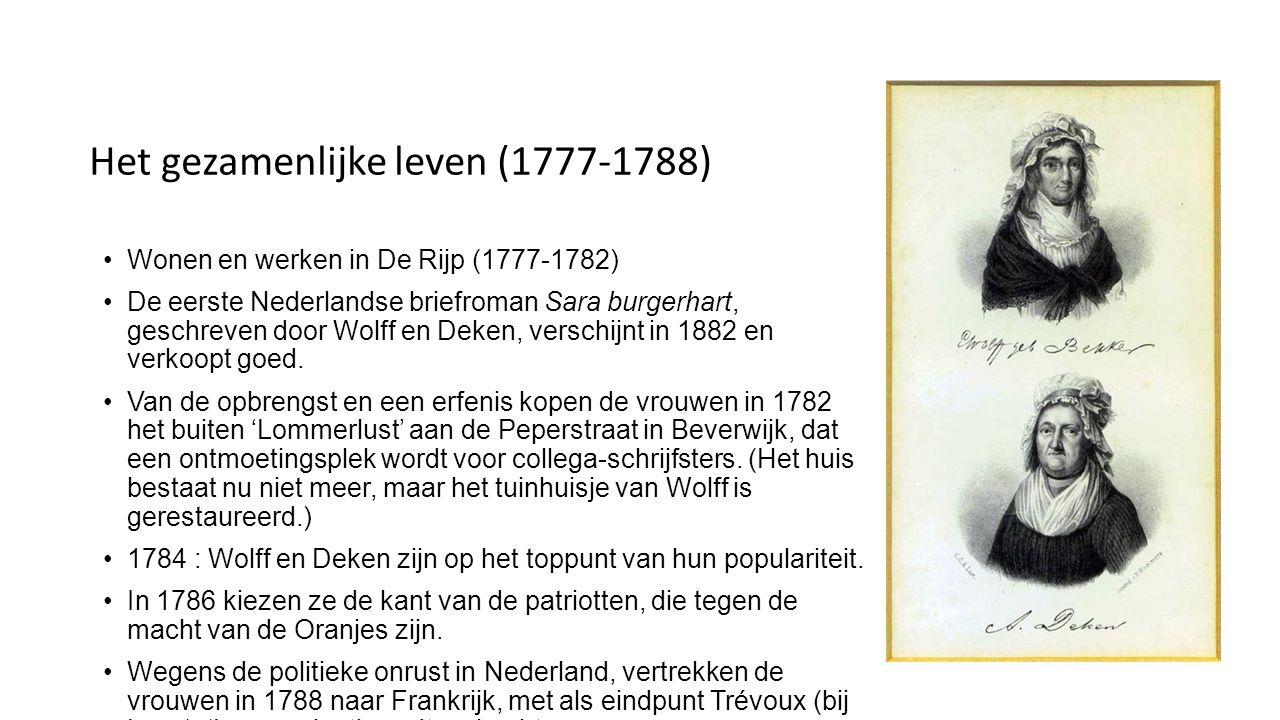 Het gezamenlijke leven (1777-1788)