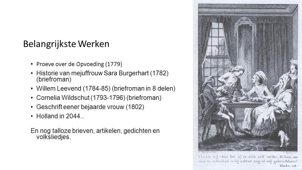 Belangrijkste Werken Proeve over de Opvoeding (1779)