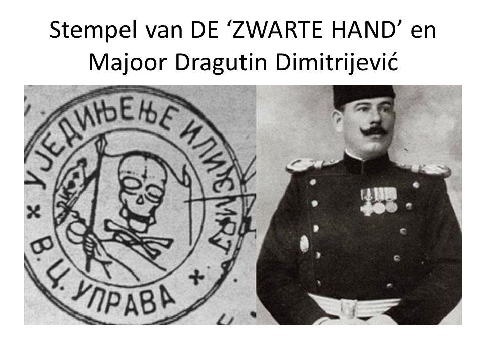 Stempel van DE 'ZWARTE HAND' en Majoor Dragutin Dimitrijević