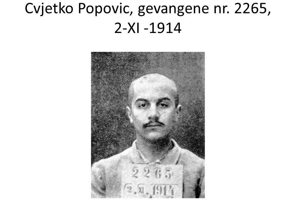 Cvjetko Popovic, gevangene nr. 2265, 2-XI -1914