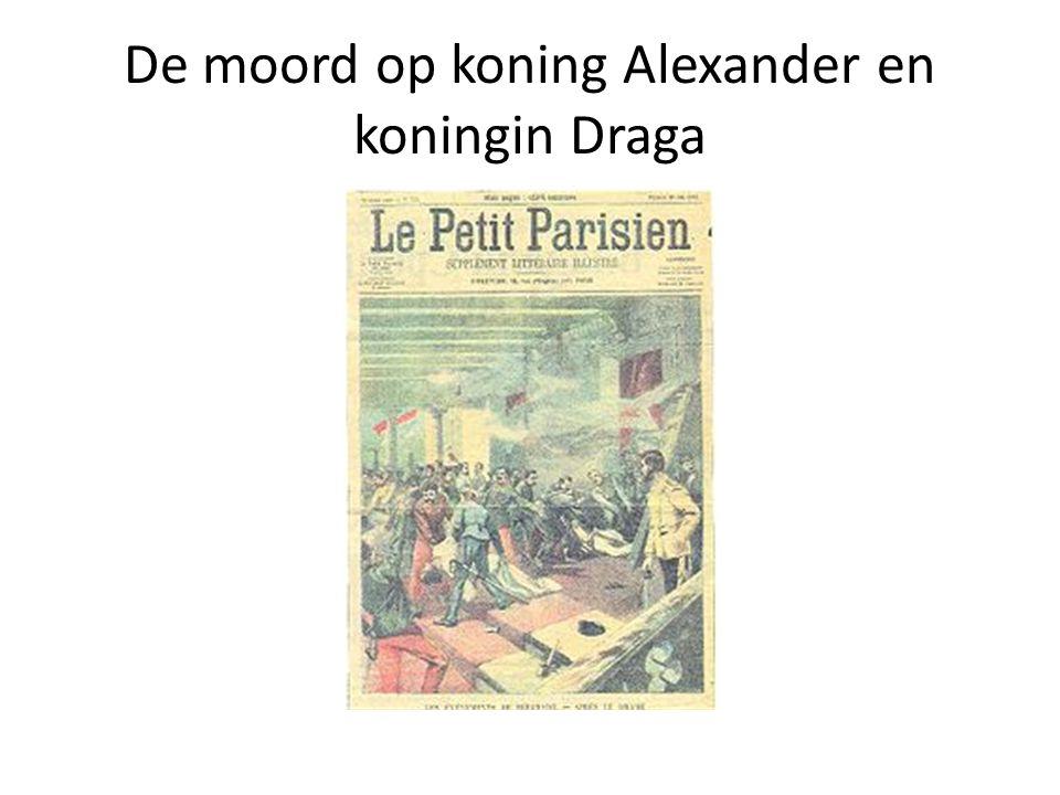 De moord op koning Alexander en koningin Draga