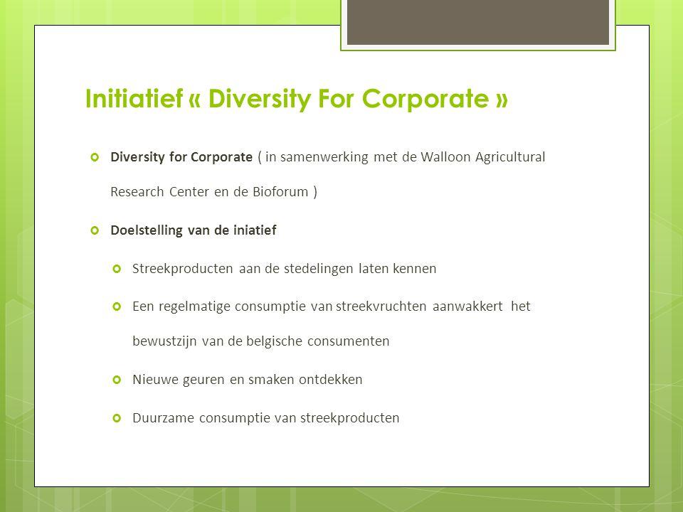 Initiatief « Diversity For Corporate »