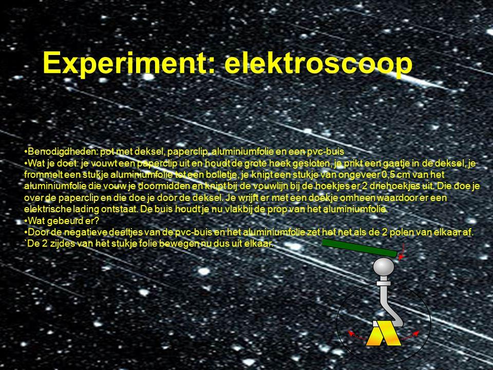 Experiment: elektroscoop