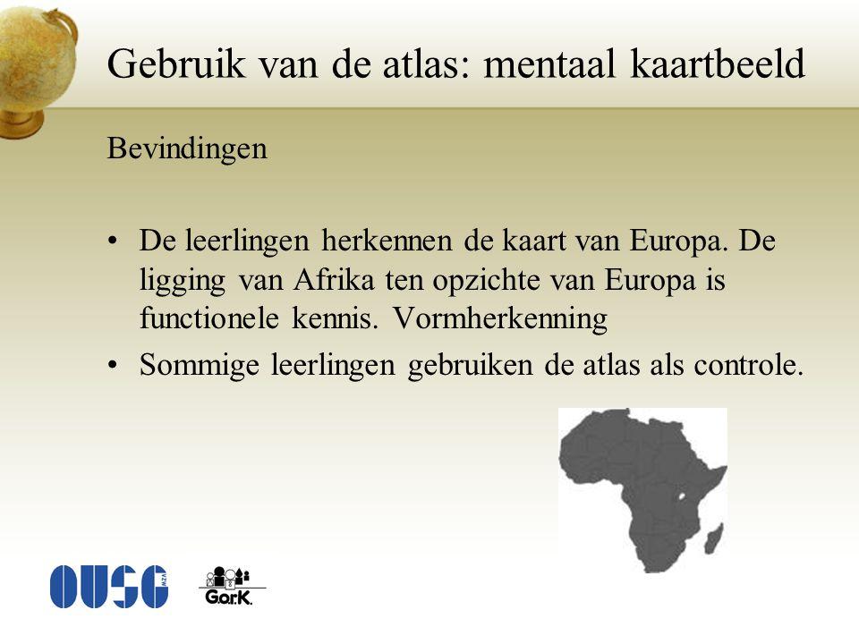 Gebruik van de atlas: mentaal kaartbeeld