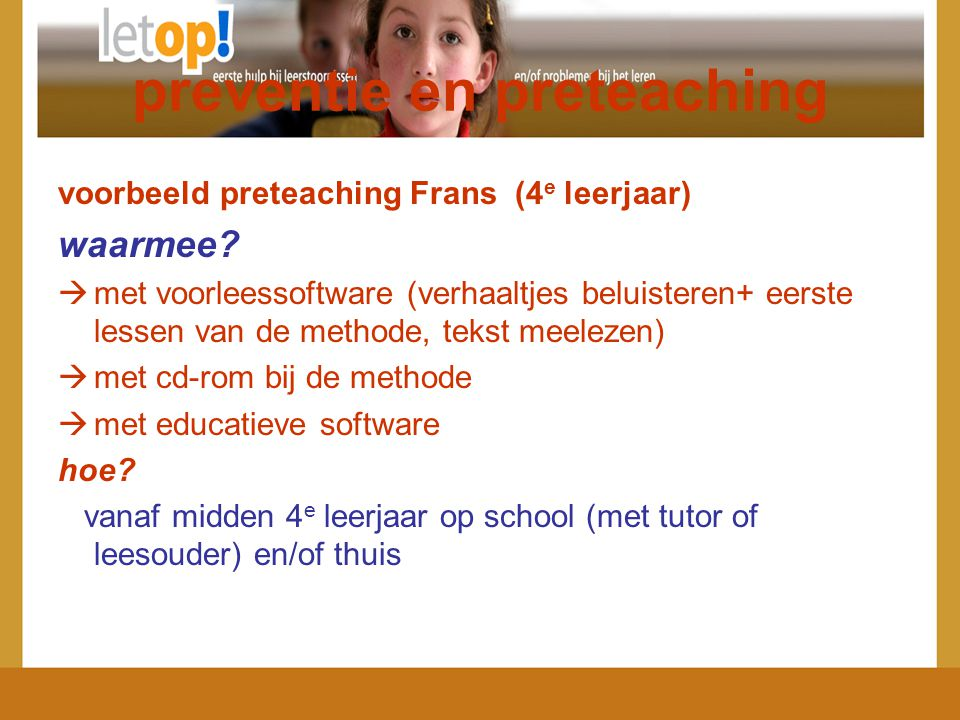 preventie en preteaching