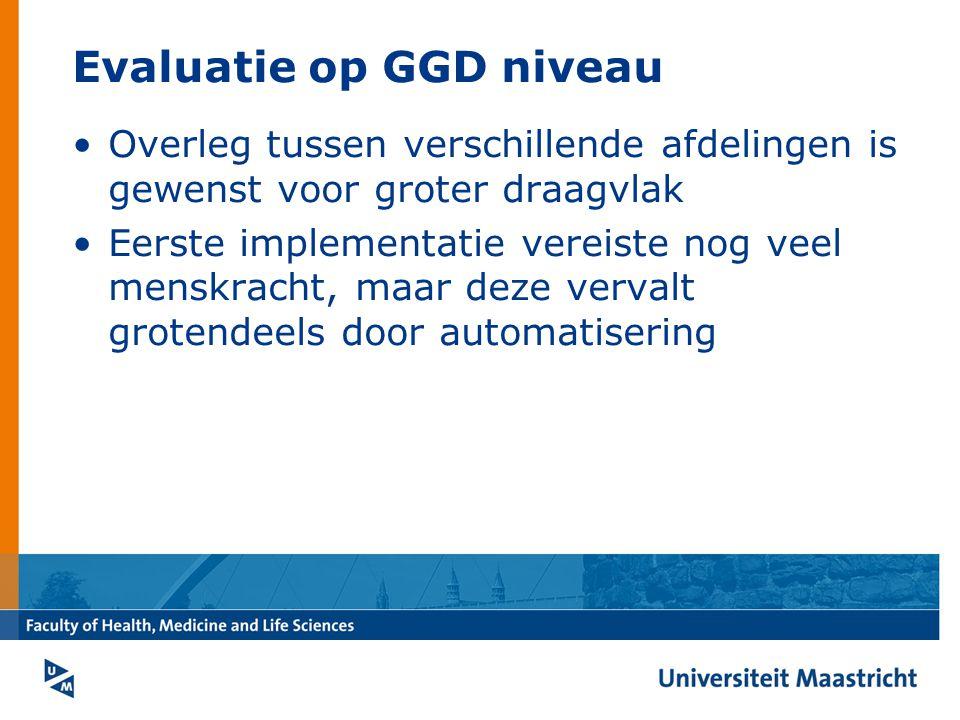 Evaluatie op GGD niveau