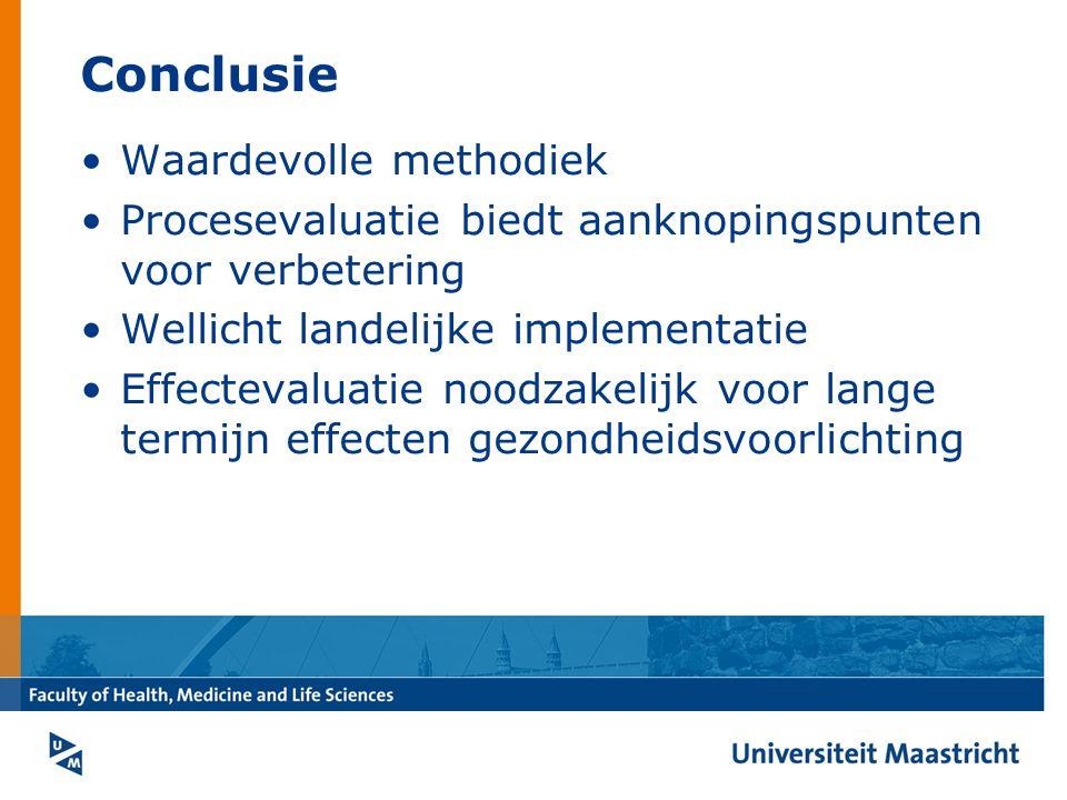 Conclusie Waardevolle methodiek