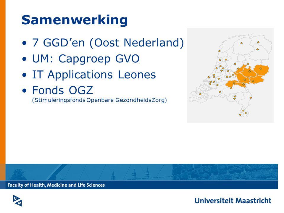 Samenwerking 7 GGD'en (Oost Nederland) UM: Capgroep GVO