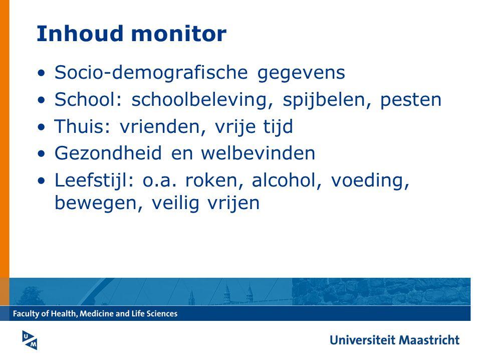 Inhoud monitor Socio-demografische gegevens