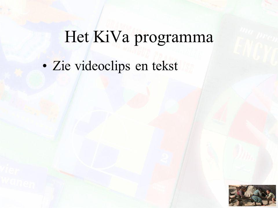Het KiVa programma Zie videoclips en tekst
