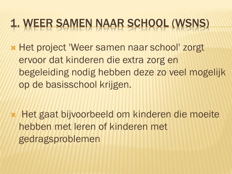 1. Weer samen naar school (wsns)