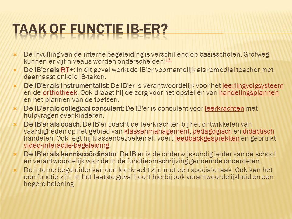 Taak of functie IB-er