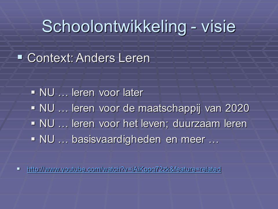Schoolontwikkeling - visie