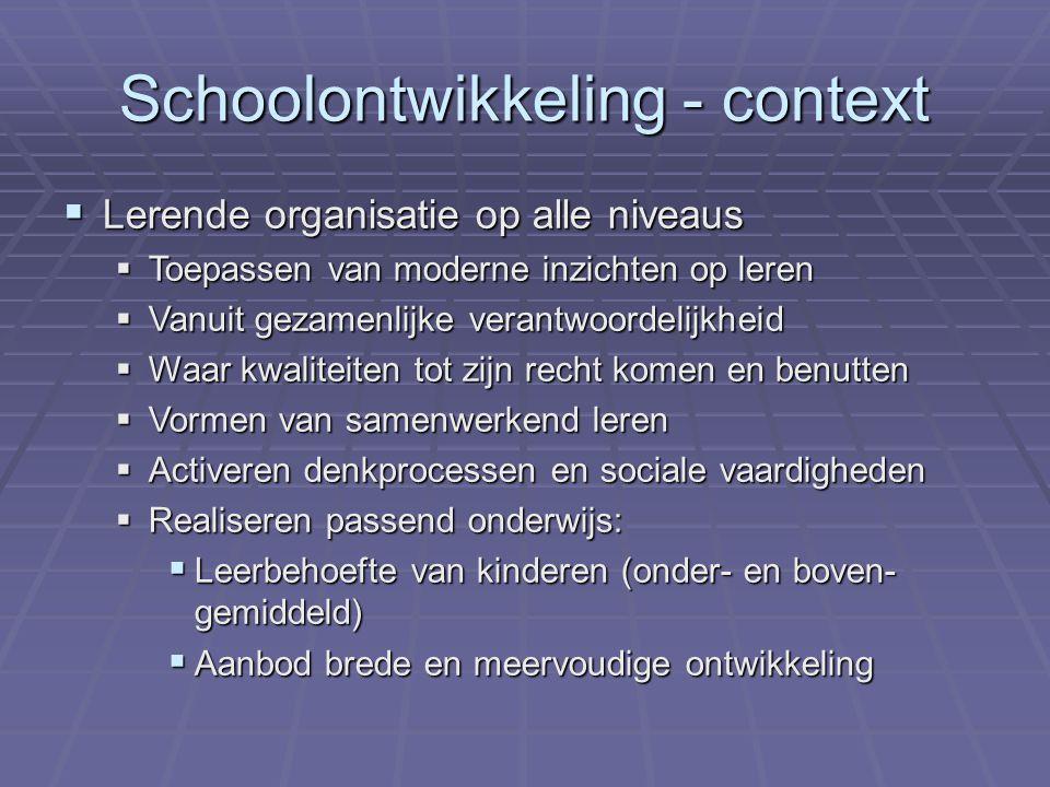 Schoolontwikkeling - context
