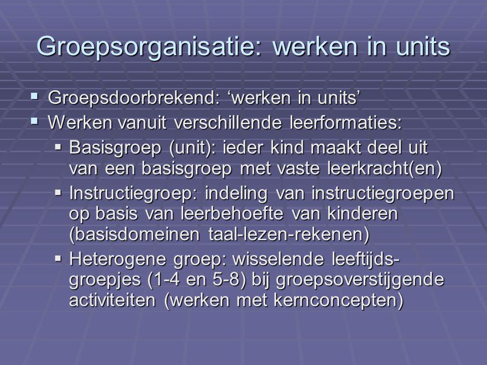 Groepsorganisatie: werken in units