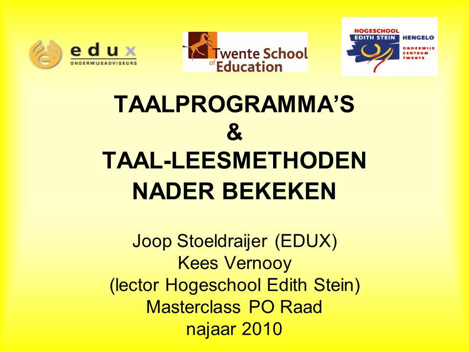 TAALPROGRAMMA'S & TAAL-LEESMETHODEN NADER BEKEKEN