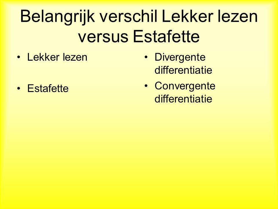 Belangrijk verschil Lekker lezen versus Estafette