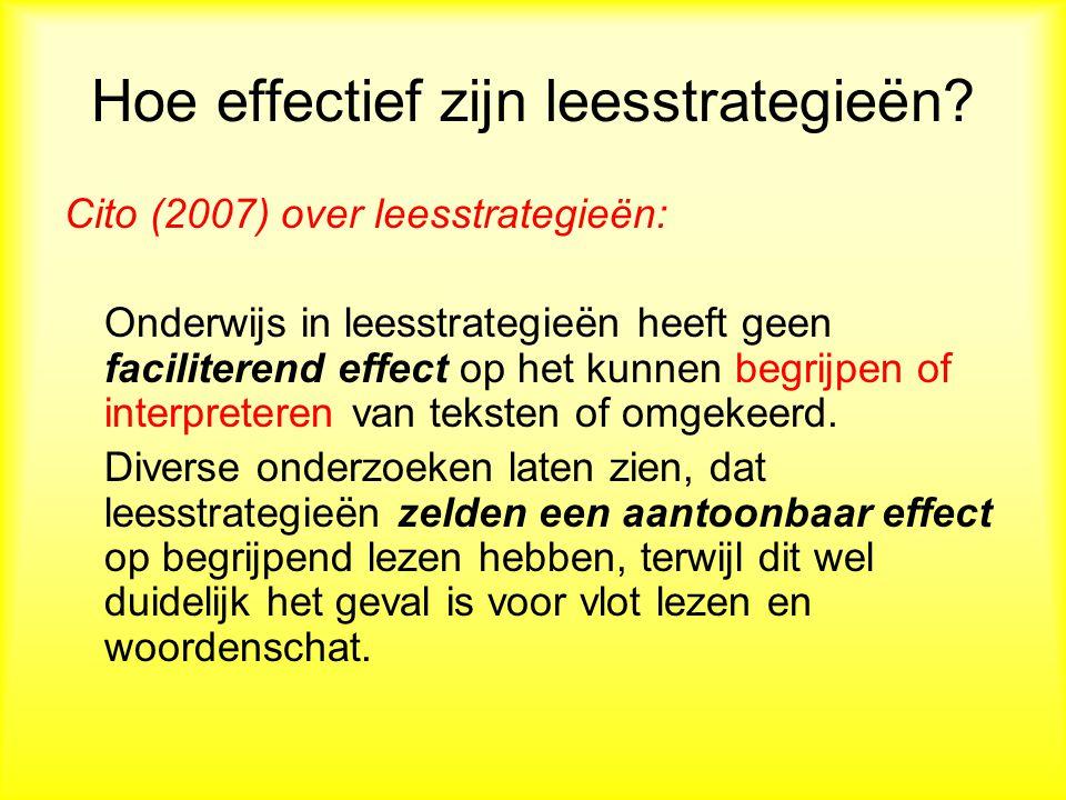 Hoe effectief zijn leesstrategieën