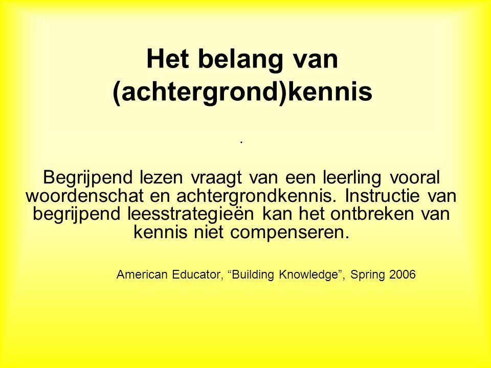 Het belang van (achtergrond)kennis
