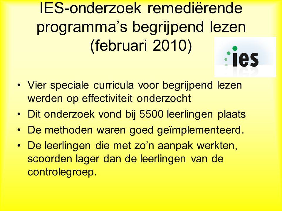 IES-onderzoek remediërende programma's begrijpend lezen (februari 2010)