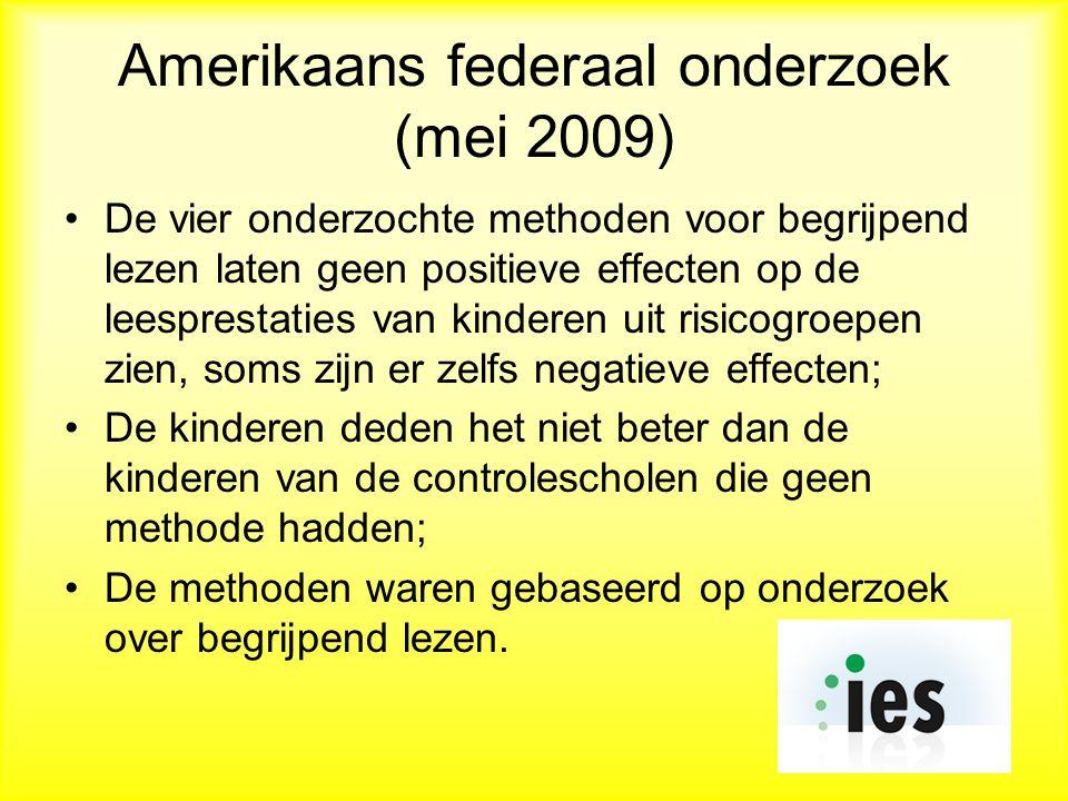 Amerikaans federaal onderzoek (mei 2009)