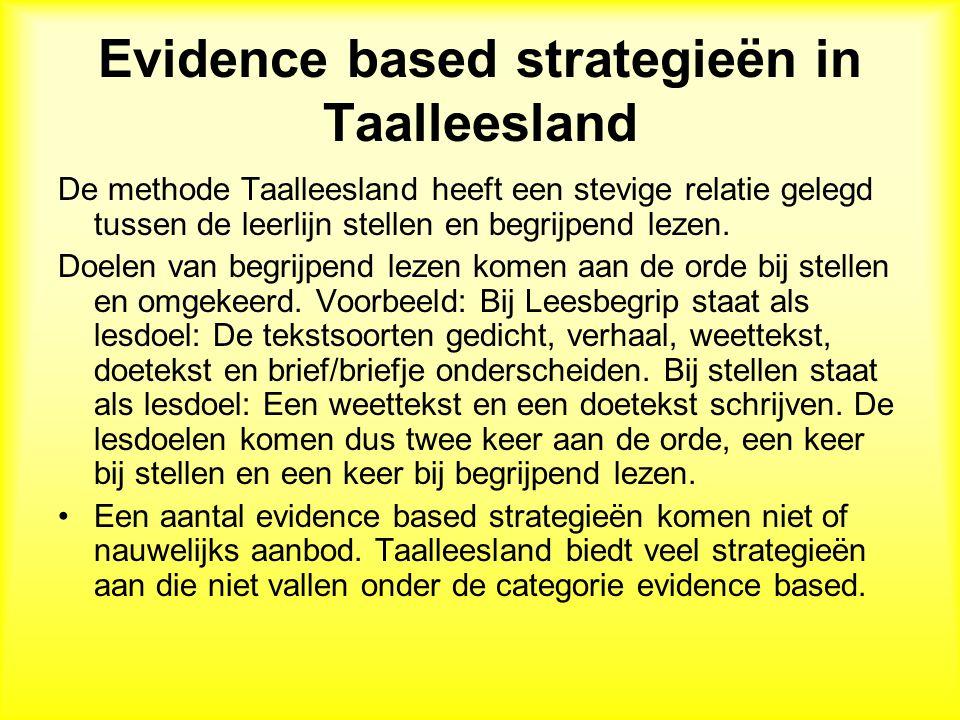 Evidence based strategieën in Taalleesland