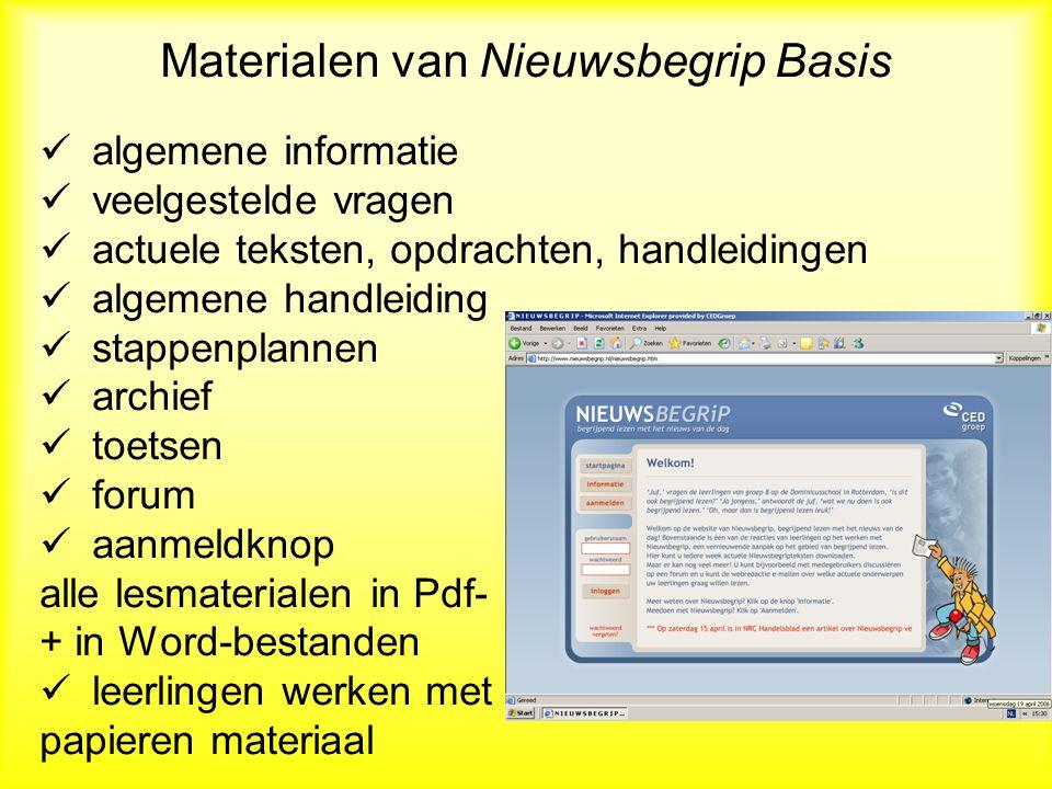 Materialen van Nieuwsbegrip Basis