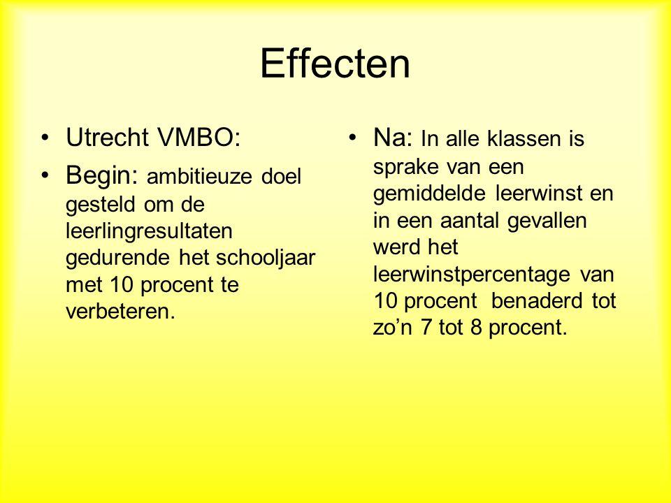 Effecten Utrecht VMBO: