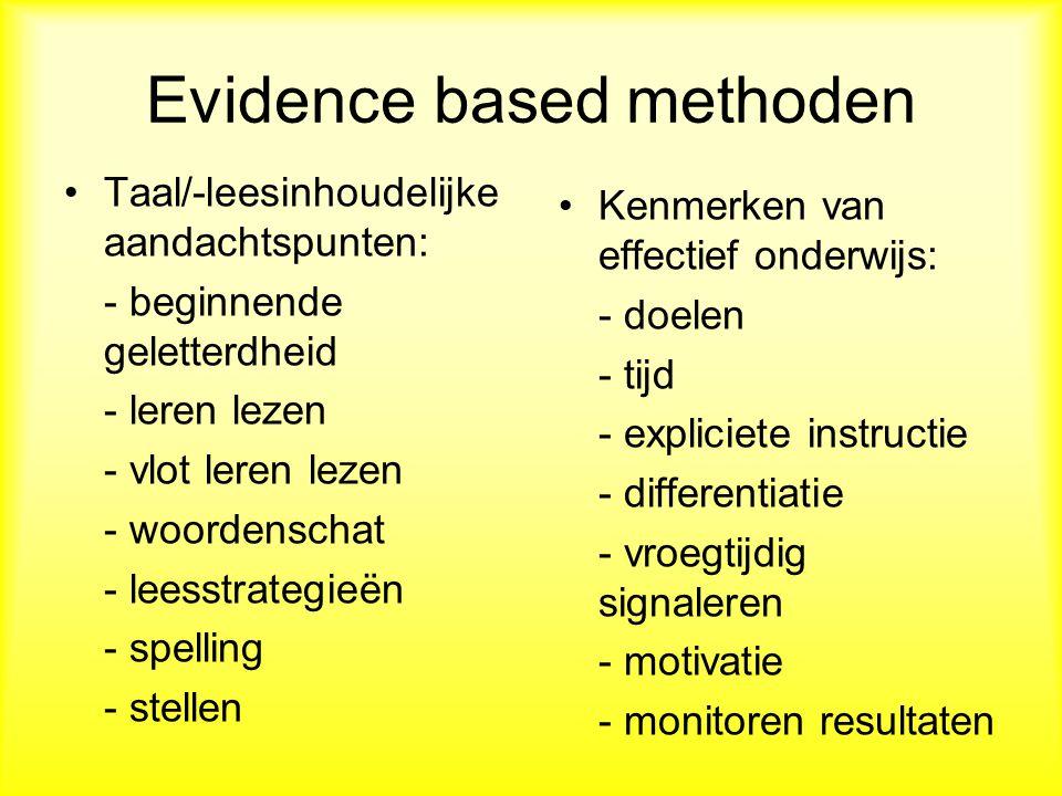 Evidence based methoden