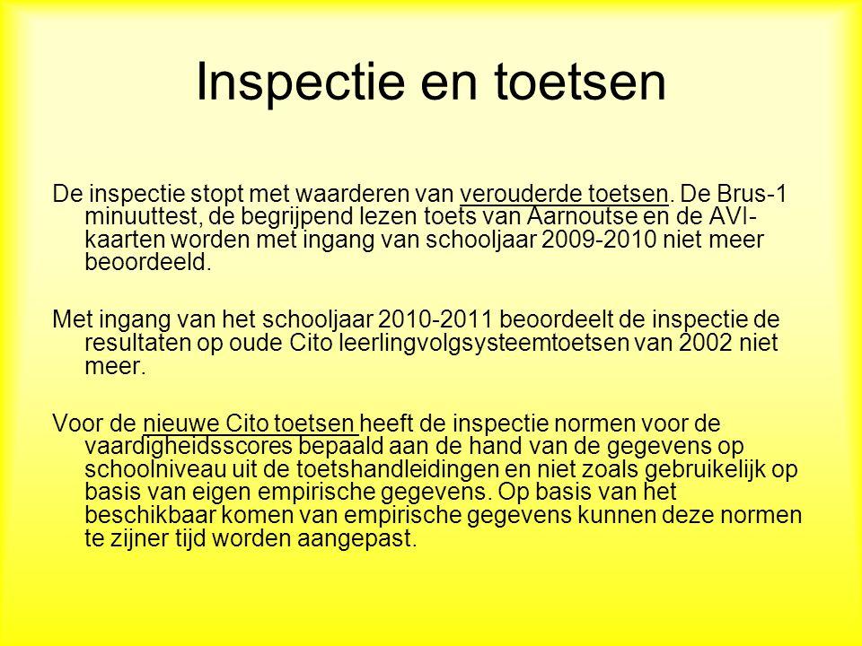 Inspectie en toetsen