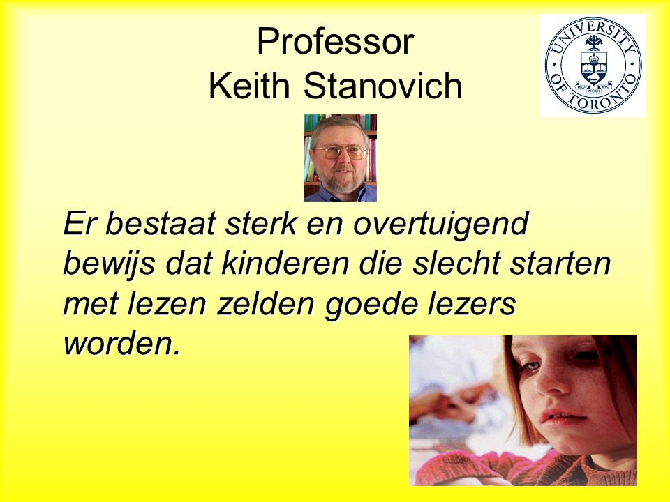 Professor Keith Stanovich