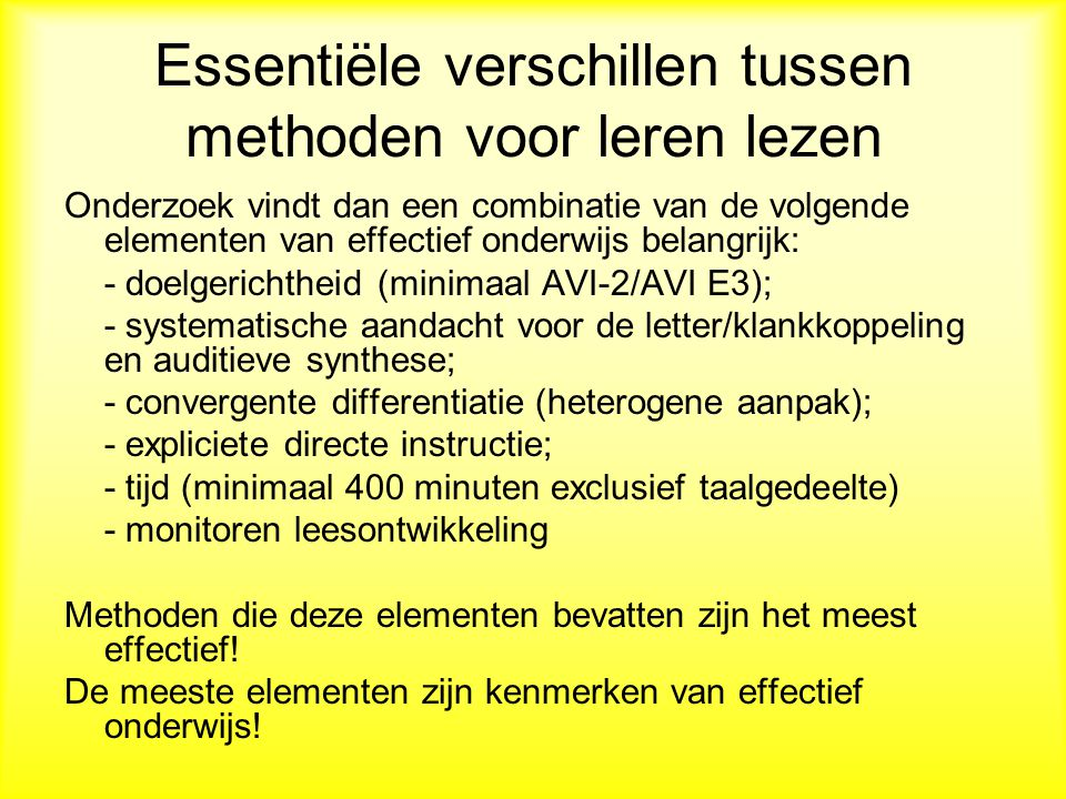 Essentiële verschillen tussen methoden voor leren lezen