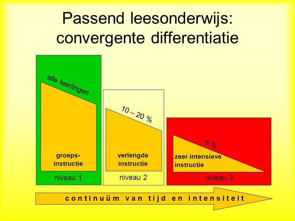 Passend leesonderwijs: convergente differentiatie