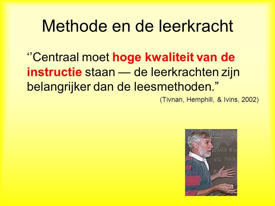 Methode en de leerkracht