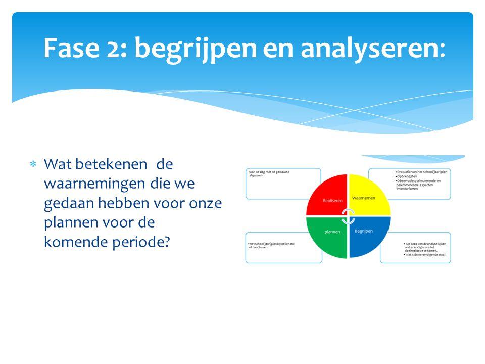 Fase 2: begrijpen en analyseren: