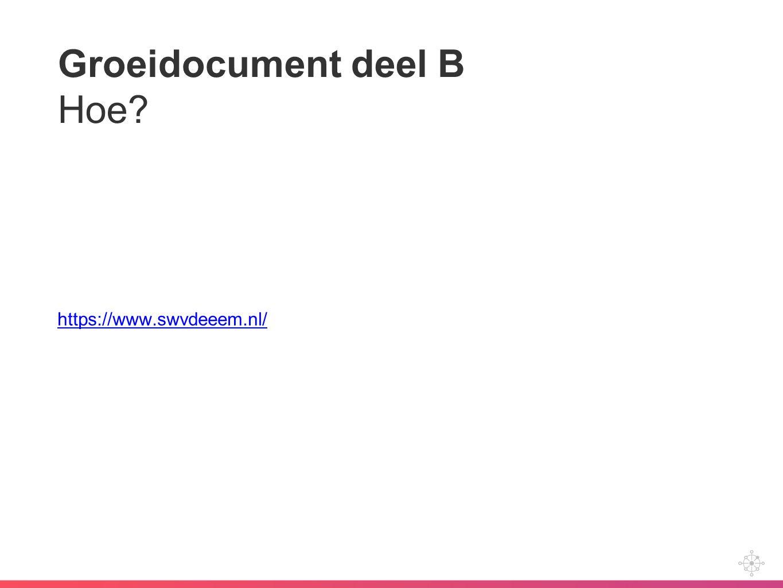 Groeidocument deel B Hoe