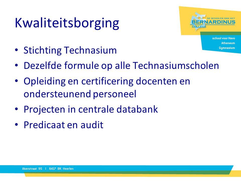 Kwaliteitsborging Stichting Technasium
