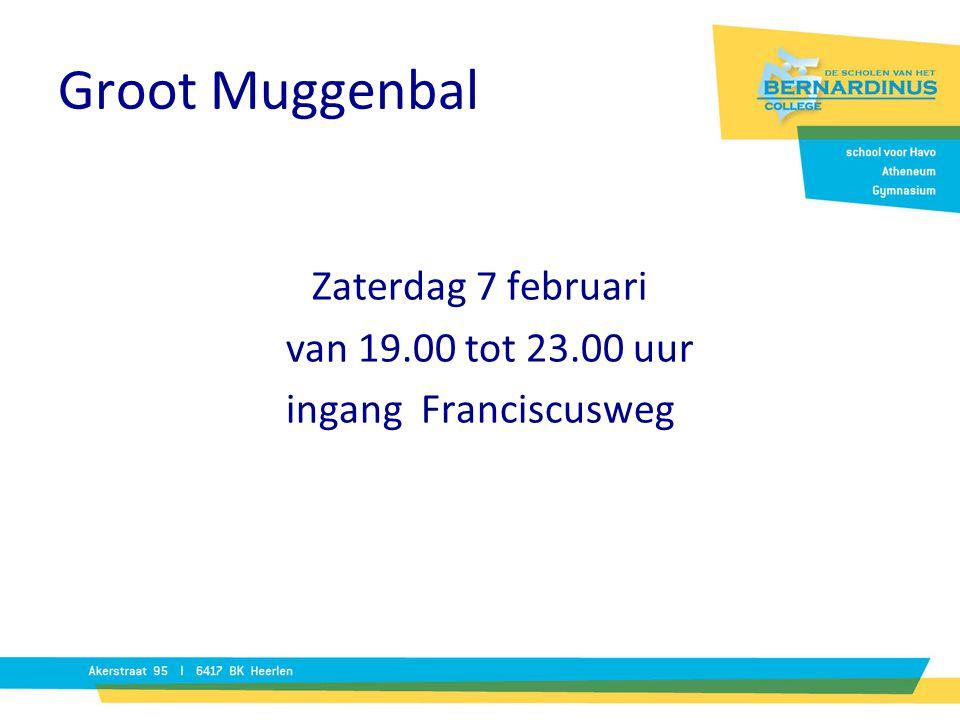 Zaterdag 7 februari van 19.00 tot 23.00 uur ingang Franciscusweg