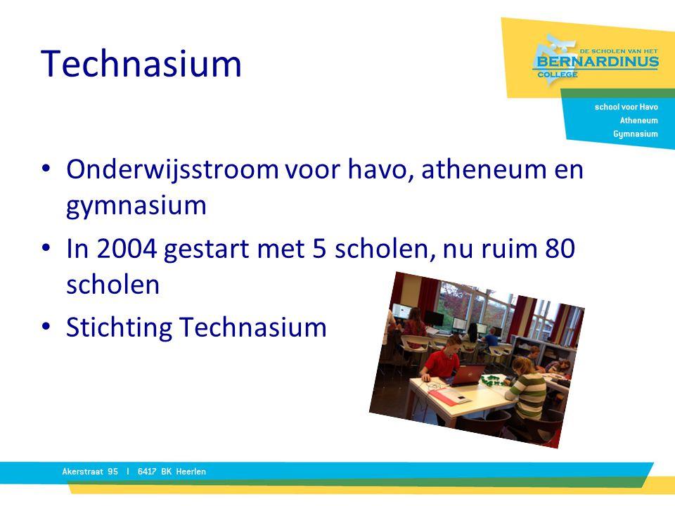 Technasium Onderwijsstroom voor havo, atheneum en gymnasium