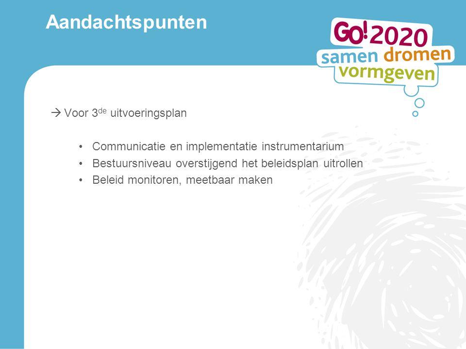 Aandachtspunten Voor 3de uitvoeringsplan