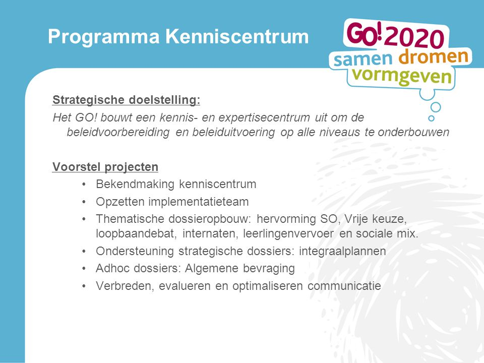 Programma Kenniscentrum