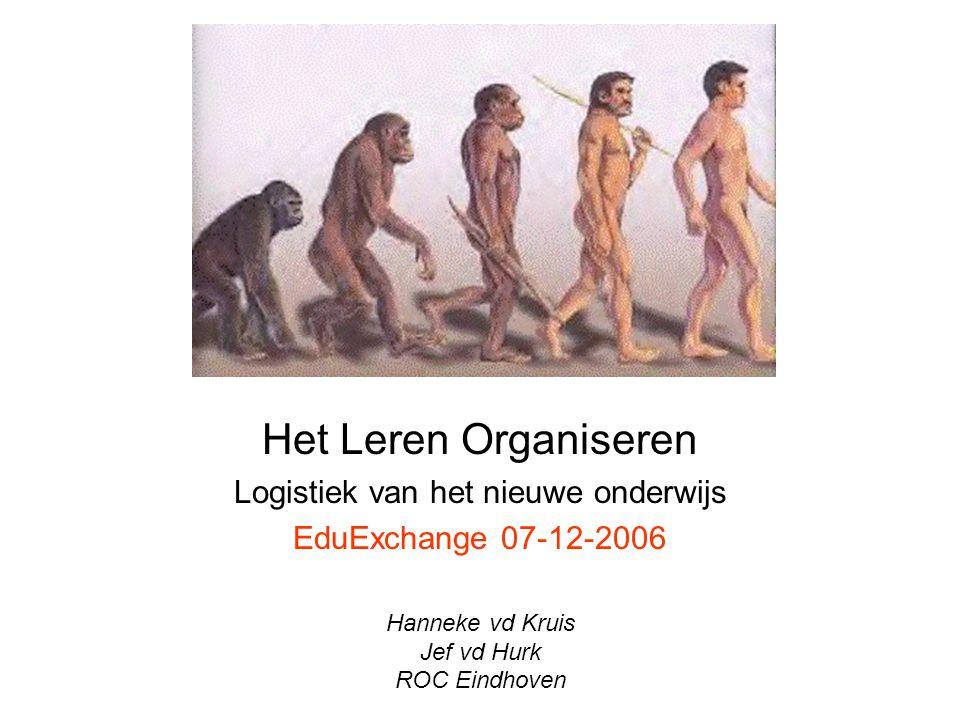 Het Leren Organiseren Logistiek van het nieuwe onderwijs