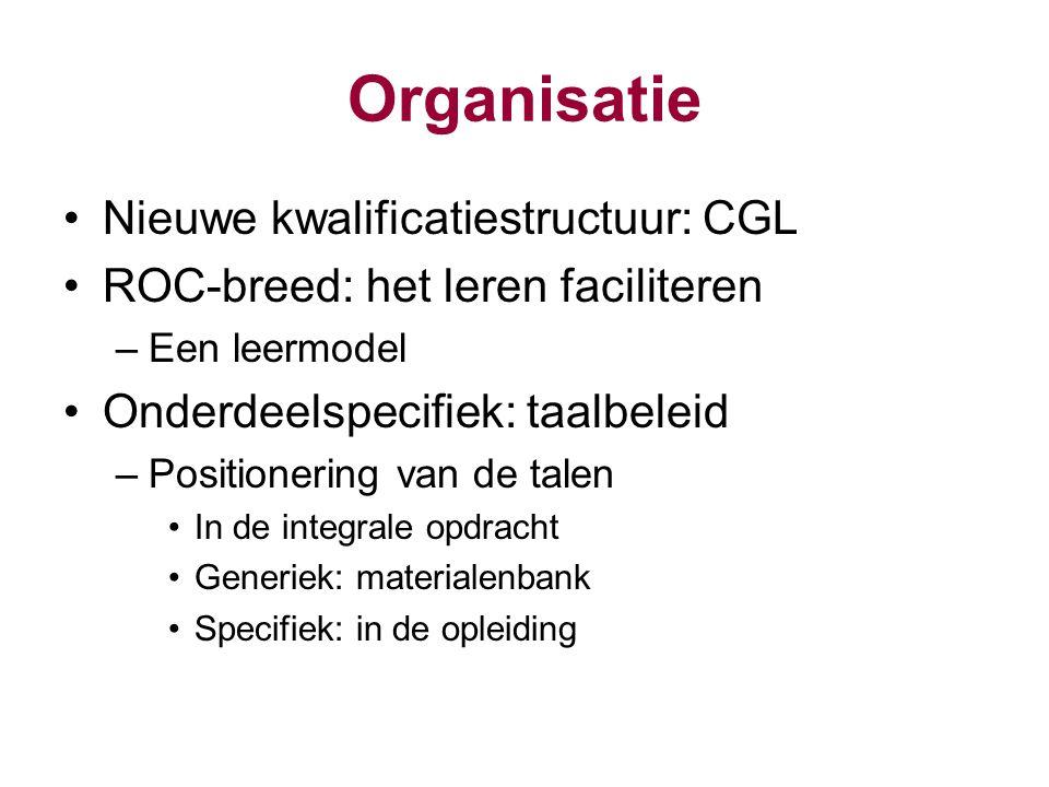 Organisatie Nieuwe kwalificatiestructuur: CGL