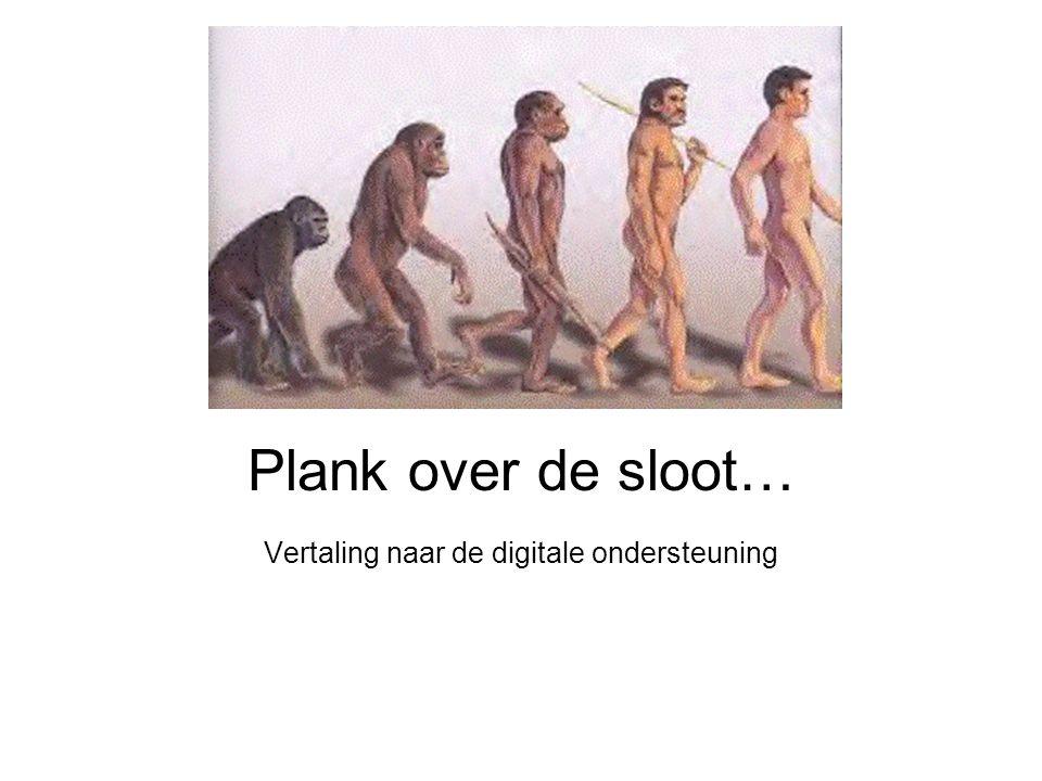 Plank over de sloot… Vertaling naar de digitale ondersteuning