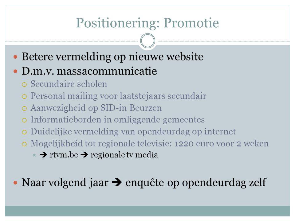 Positionering: Promotie