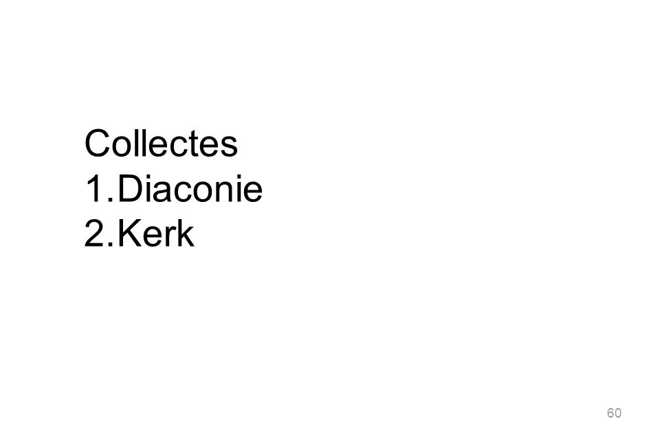 Collectes Diaconie Kerk