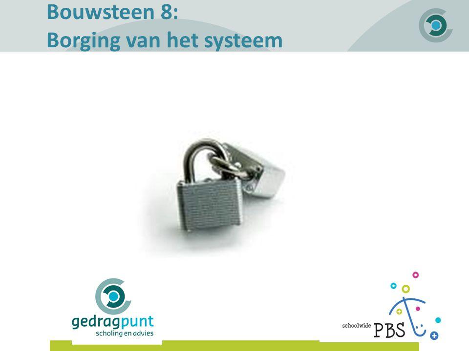 Bouwsteen 8: Borging van het systeem